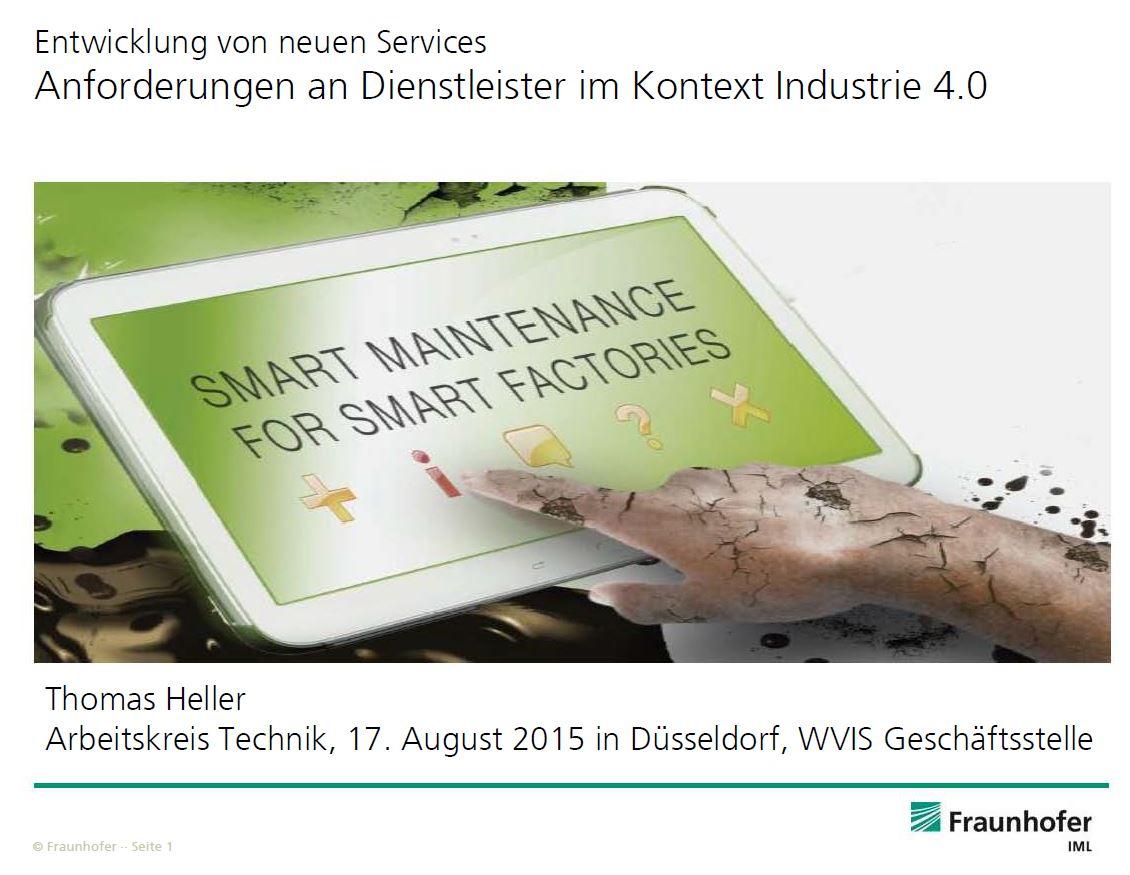 Entwicklung von neuen Services: Anforderungen an Dienstleister im Kontext Industrie 4.0