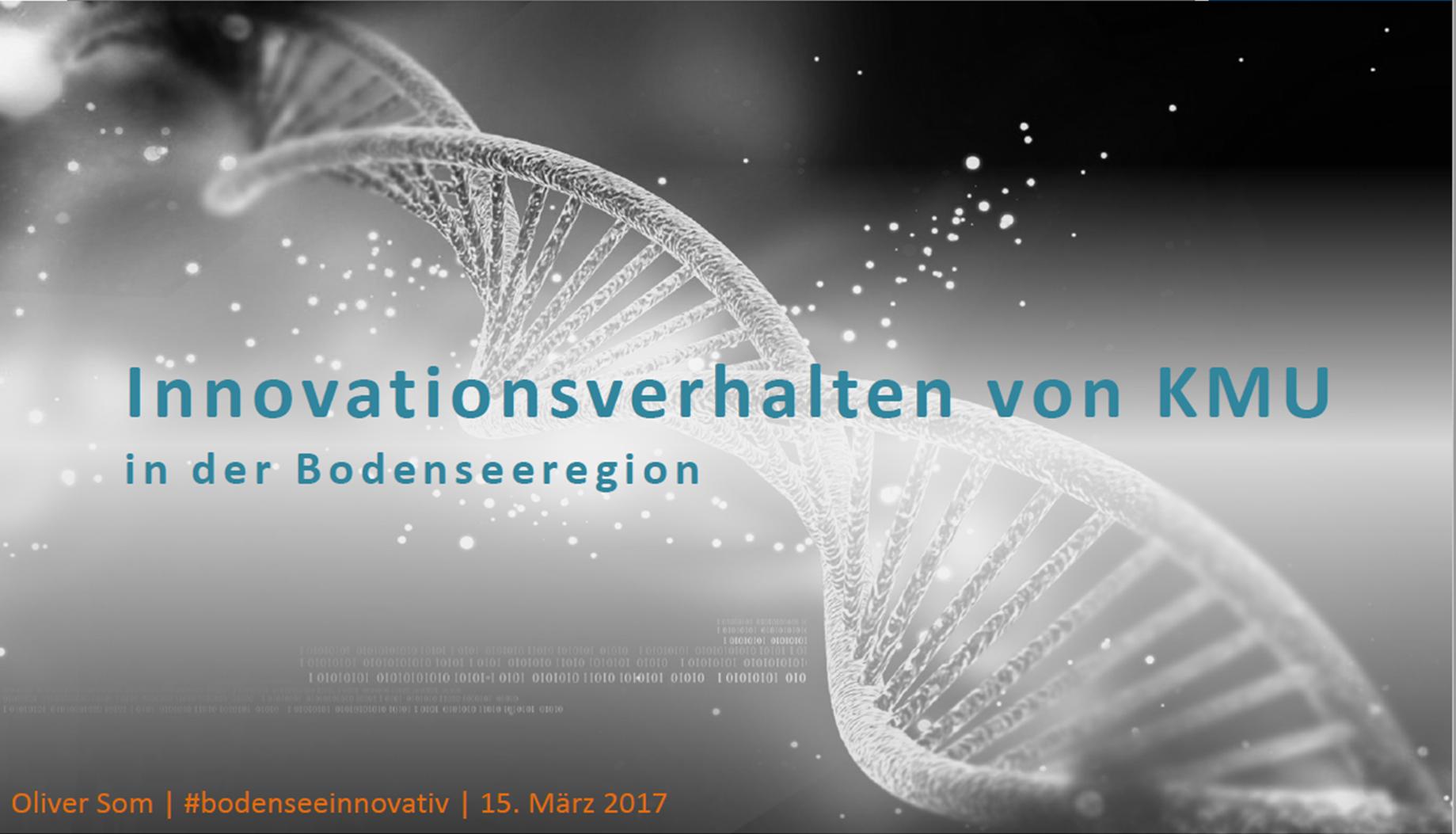 Innovationsverhalten von KMU in der Bodenseeregion