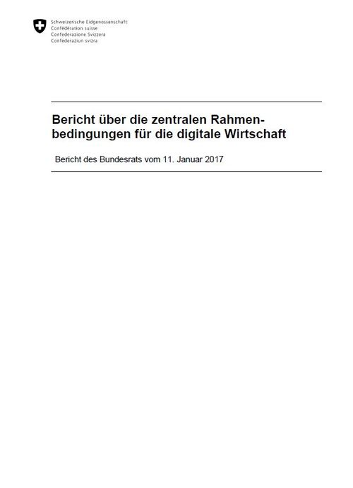 Rahmenbedingungen der digitalen Wirtschaft