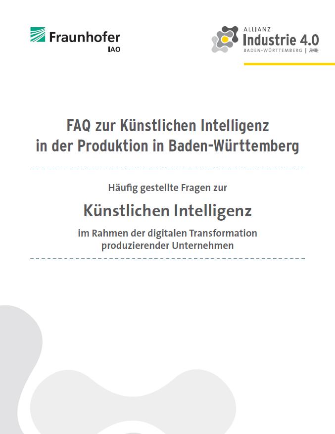 FAQ zur Künstlichen Intelligenz in der Produktion in Baden-Württemberg