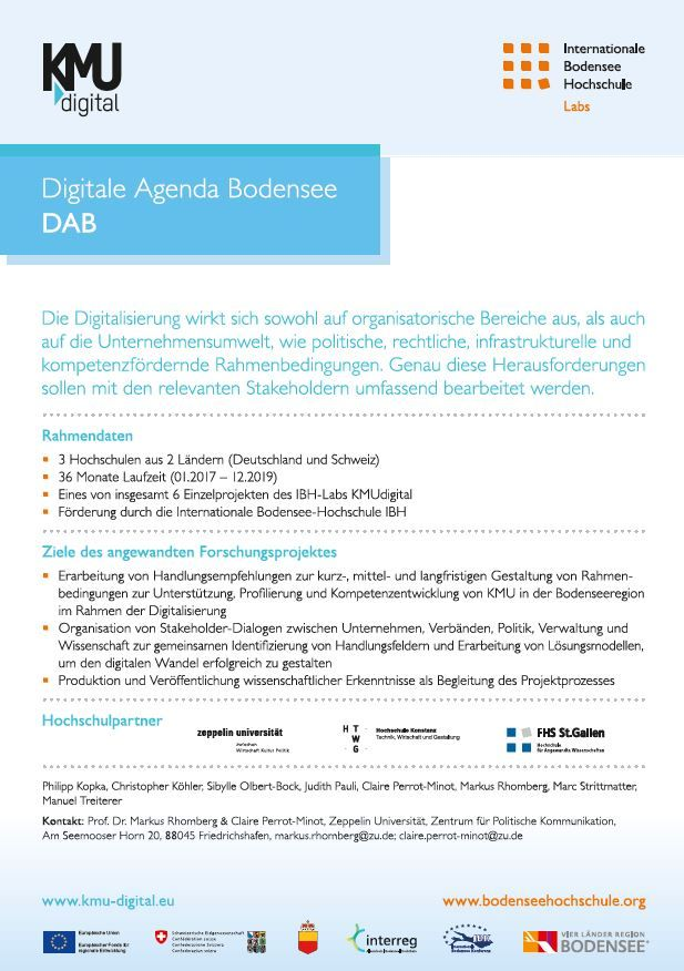 Handzettel Digitale Agenda Bodensee (DAB)