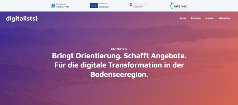 Screenshot der Website digitalist.eu