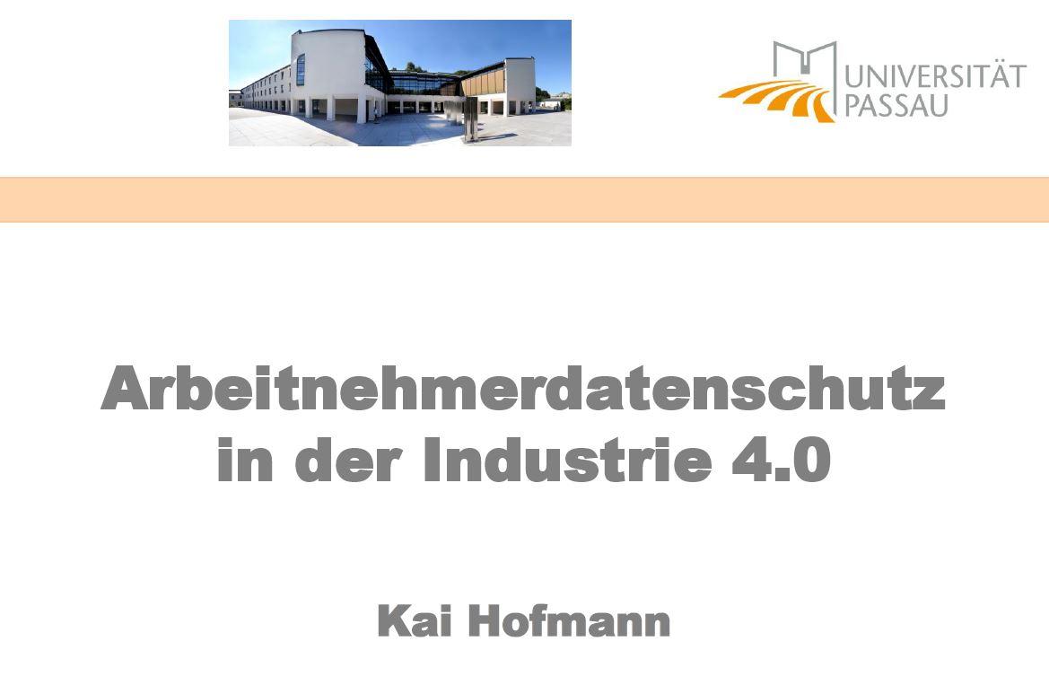 Arbeitnehmerdatenschutz in der Industrie 4.0