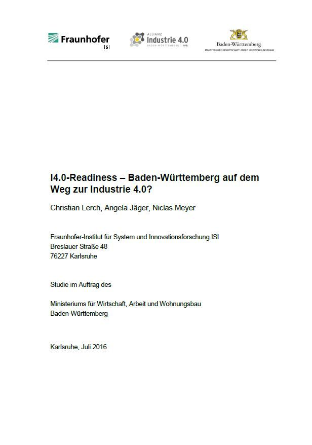 I4.0-Readiness – Baden-Württemberg auf dem Weg zur Industrie 4.0?