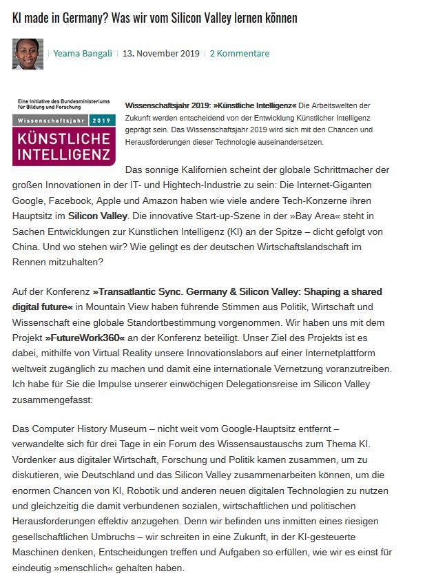 KI made in Germany? Was wir vom Silicon Valley lernen können