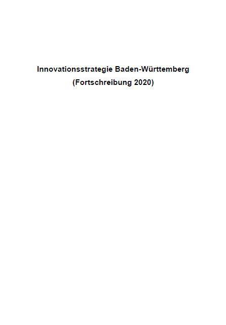 Innovationsstrategie Baden-Württemberg