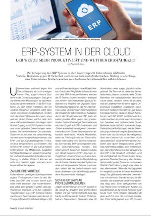ERP-System in der Cloud