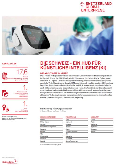 Die Schweiz- Ein Hub für künstliche Intelligenz